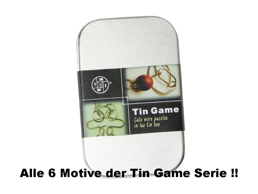 Metall Drahtpuzzle Tin Game 6er Set