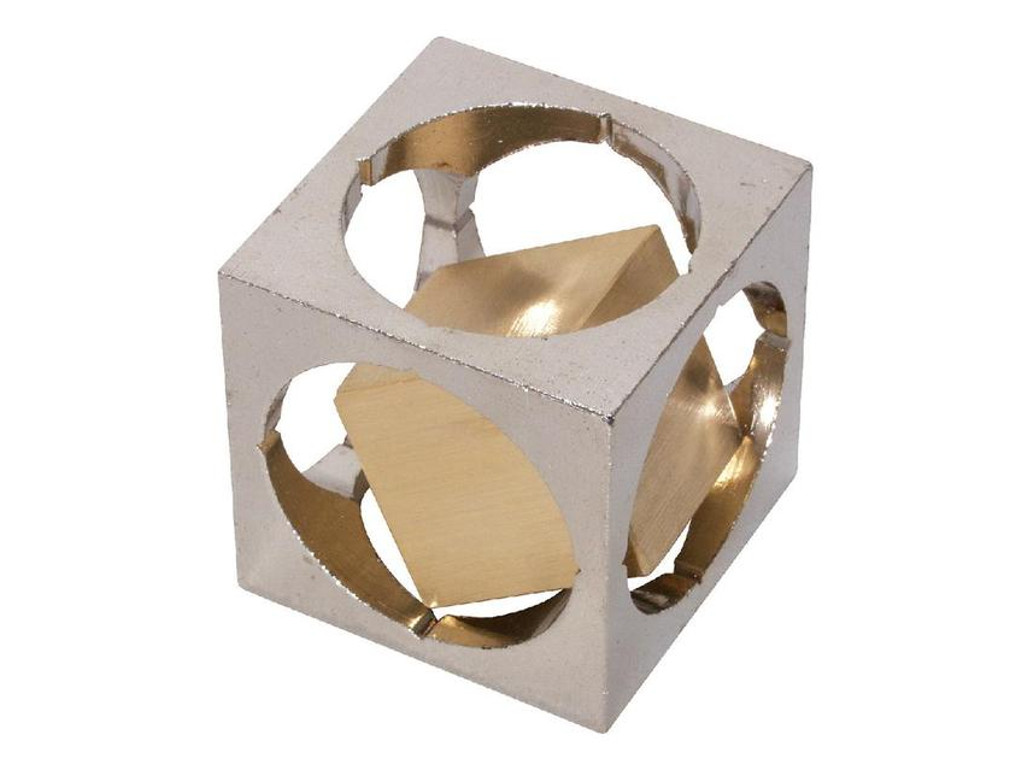 Metallpuzzle Cube in Cube