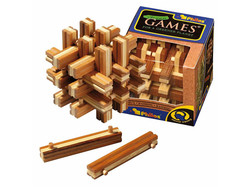 Holzknoten Bambus Lock Up Puzzle